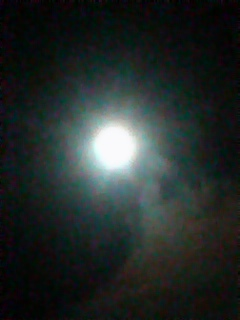 月を見ながら